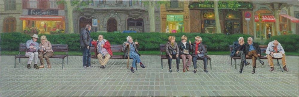 Oil on canvas 50 x 150