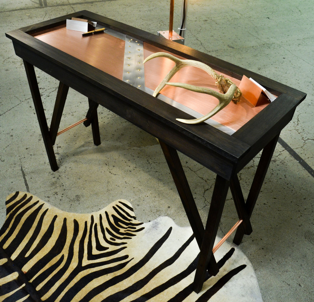 RIVETED COPPER TABLE