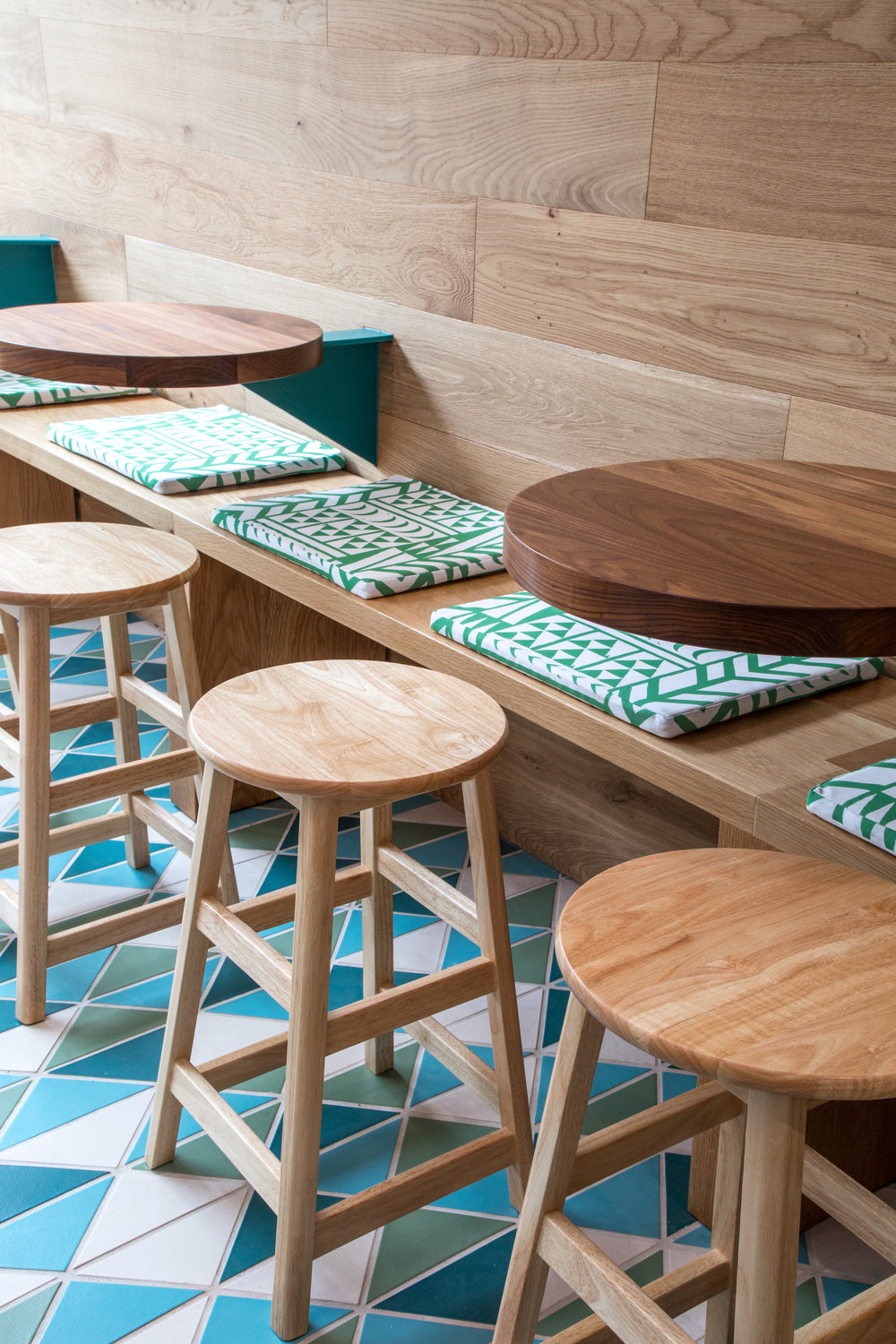 Da Kikokiko restaurant build. All the furniture was done by us and designed by Jill Stevens at  DUST & CO.