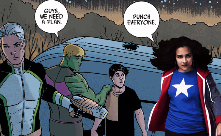 Young Avengers v2 #4 by Kieron Gillen. Art by Jamie McKelvie w/ Mike Norton. Color by Matthew Wilson.