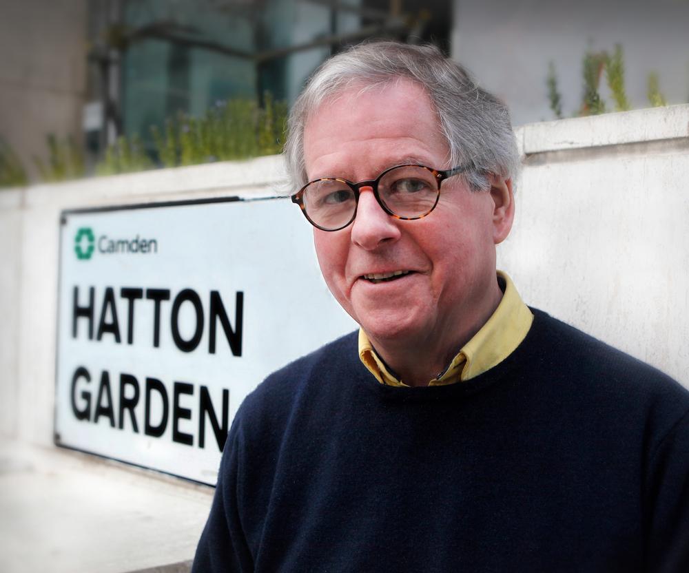Tim at his regular hunting ground in Hatton Garden
