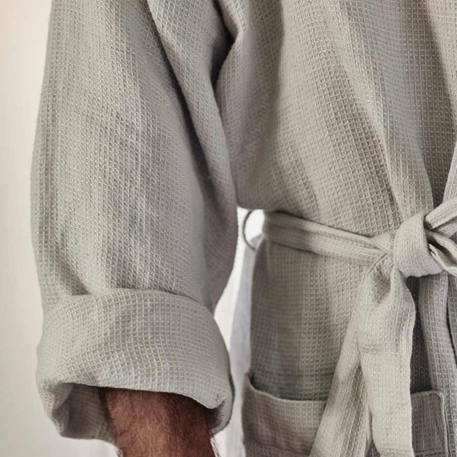 Linen Waffle Dressing Gown