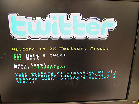 joshuatopolsky :     (via  FFFFOUND! | Twitter on a Speccy (ZX Spectrum  3 128k)! | Flickr - Photo Sharing! )