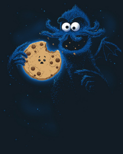 graphiceverywhere :     Cookiethulhu t-shirt (by  Spiritgreen Art )     Cookie Monster.