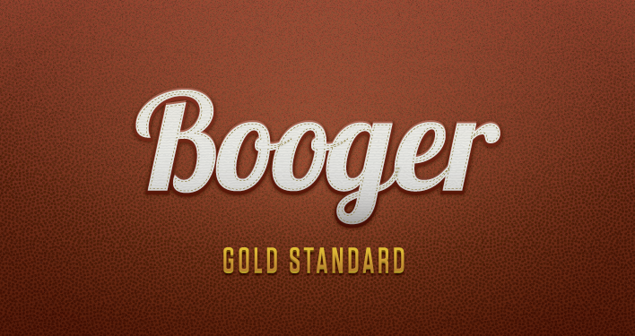 Booger, a funny word. Just experimenting with Illustrator.