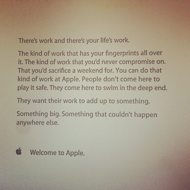 bigweek :      Apple's welcome letter.