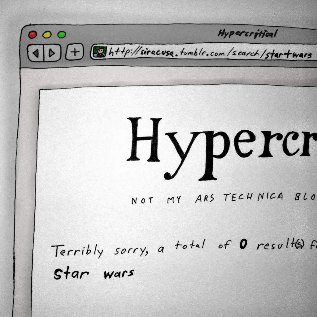 5by5illustrated :      Hypercritical #45: Star Wars is Not a Blog Post      Why Mr. Lucas, why?