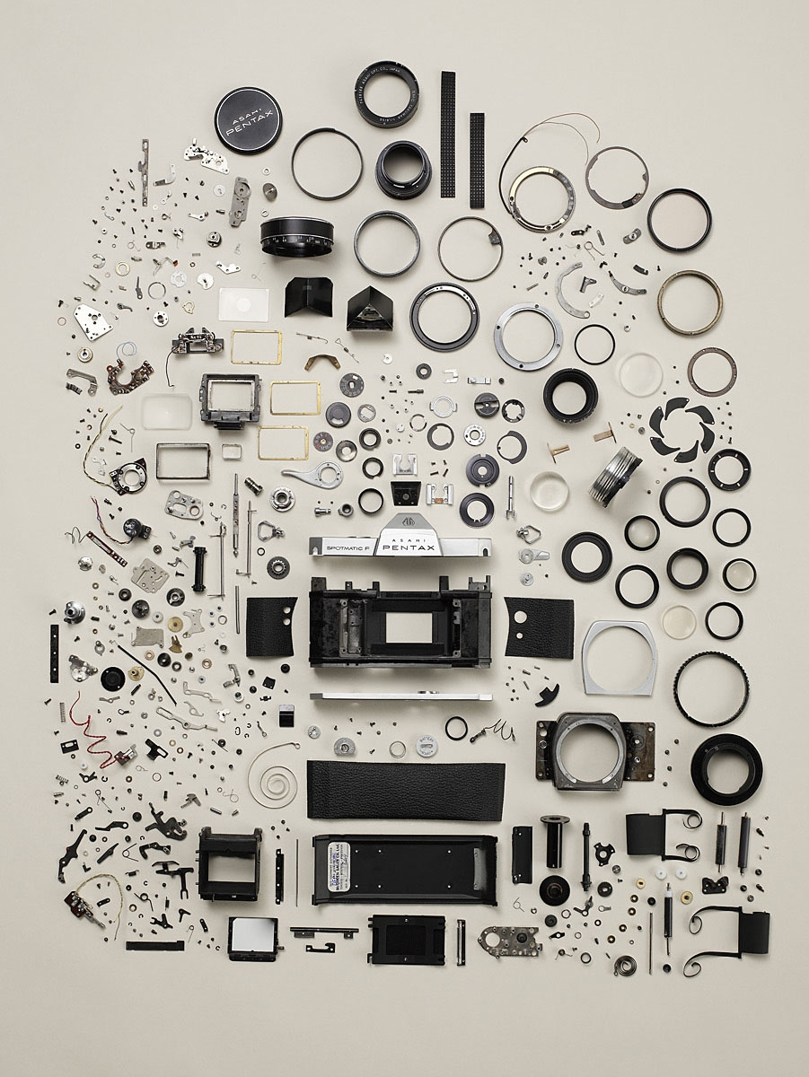 thingsorganizedneatly: Todd McLellan - Disassembled Pentax Camera