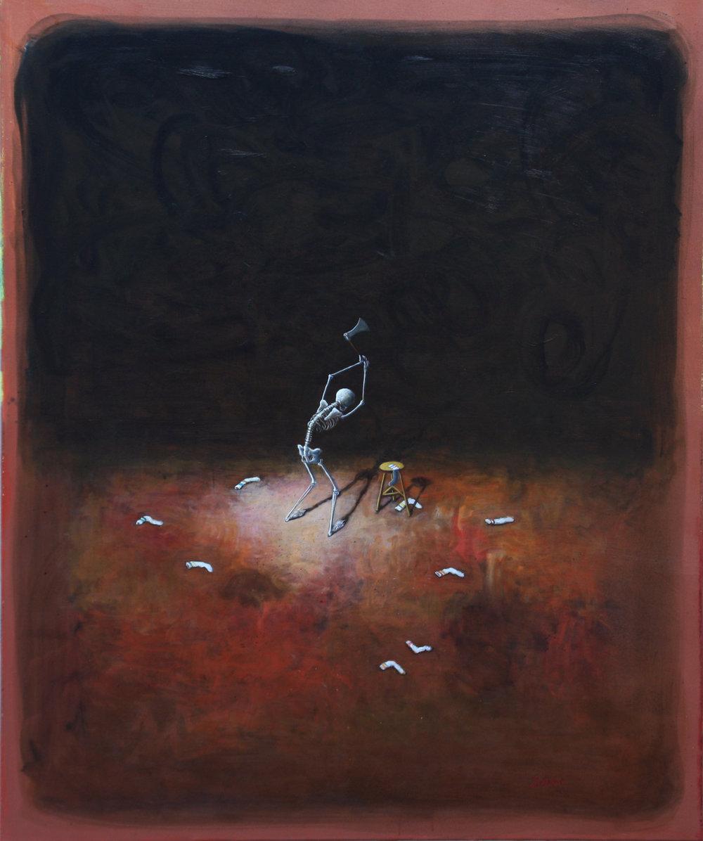 Paul Pretzer - A menudo, en sus pinturas al óleo, Paul Pretzer crea una multiplicidad de extraños seres híbridos que están dotados de atributos que relacionamos con el capitalismo mostrando su lado más oscuro.Las escenas a menudo evocan recuerdos de historias influyentes del