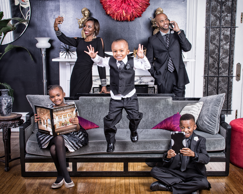 The Parker Dynasty Family Portraits  by Akintayo Adewole
