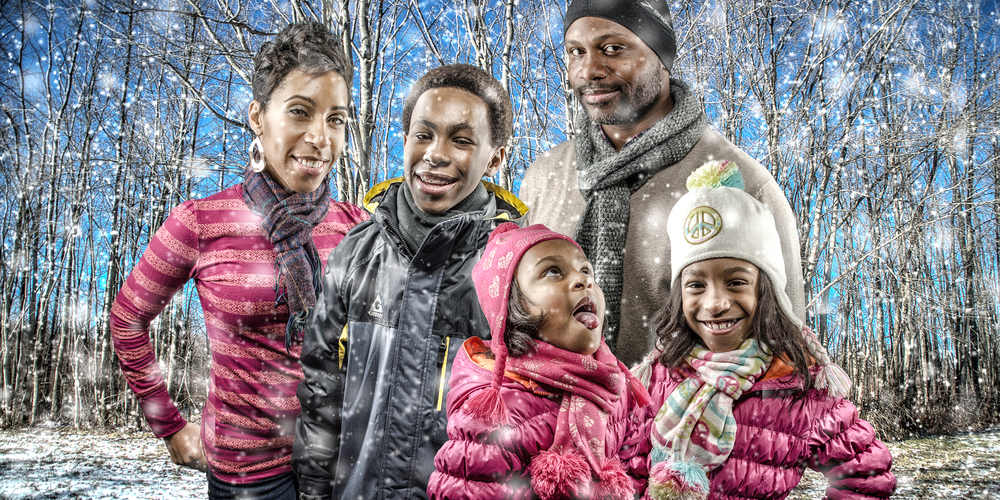 Adewole Winter Wonderland  Family Portrait