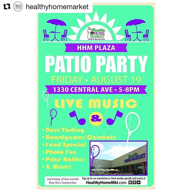 Playing this Friday at @healthyhomemarket #plazamidwood