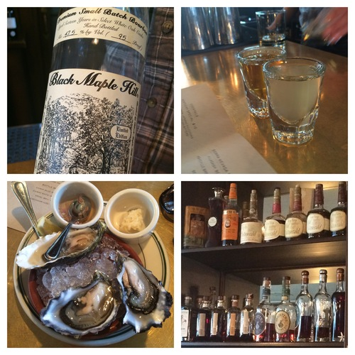 Bourbon & oysters at Clinton & Division