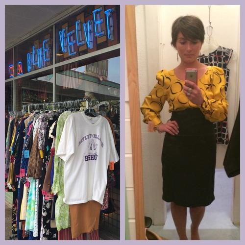 Vintage shopping at Blue Velvet