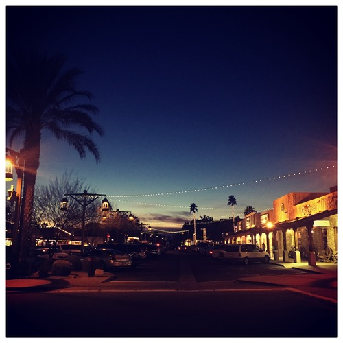 Downtown Scottsdale at night