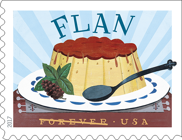 USPS Delicioso Forever Stamp - Flan