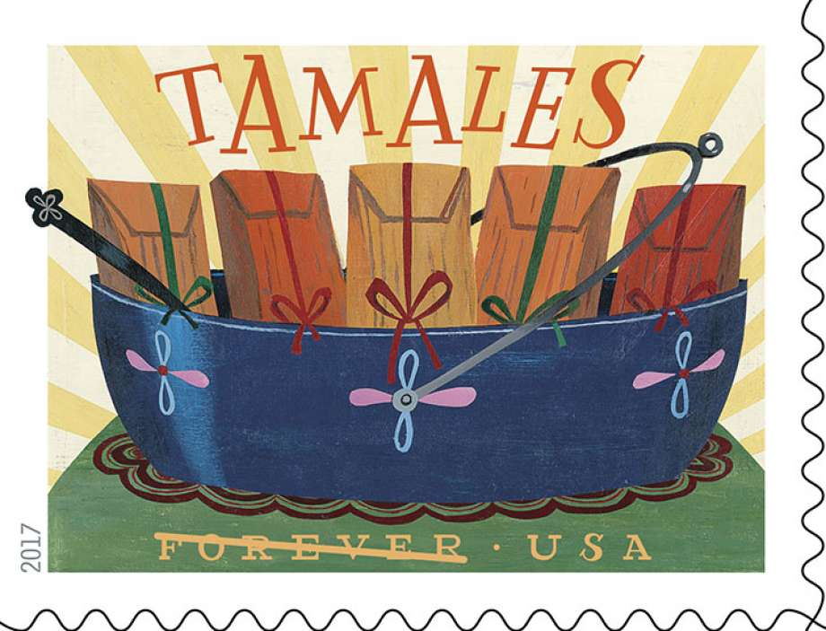 USPS Delicioso Forever Stamp - Tamales