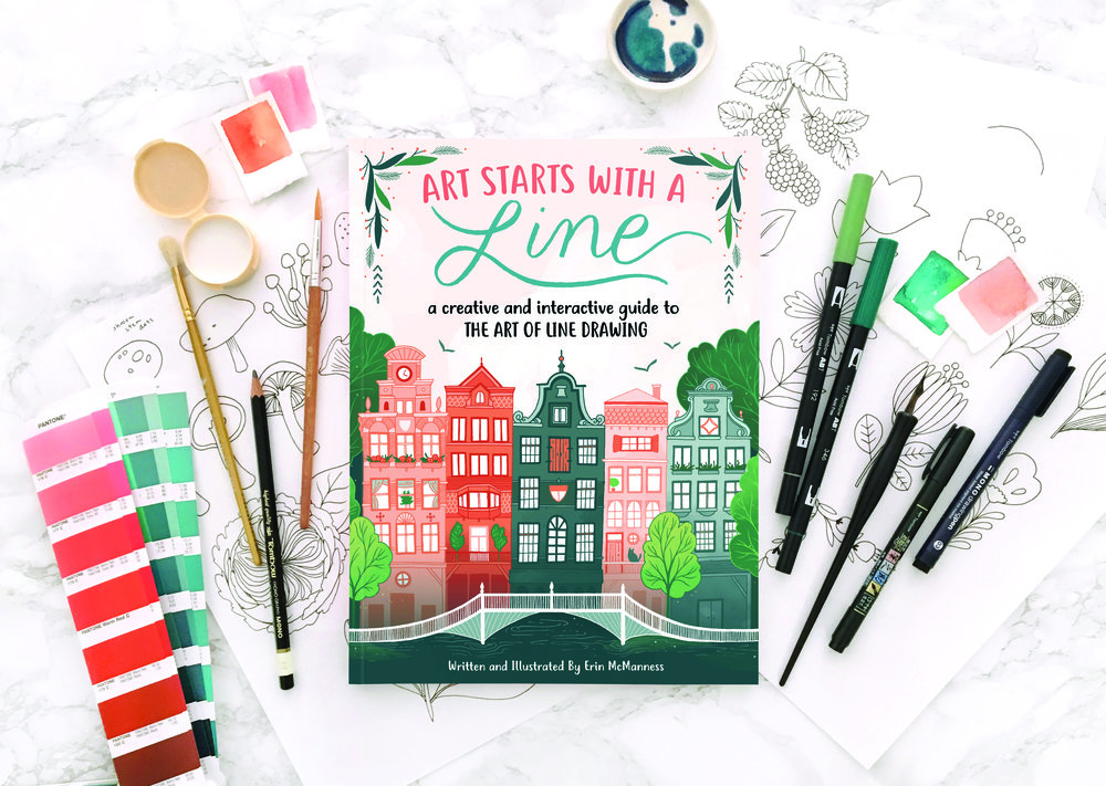 Erin McManness Art Starts with a Line how-to book