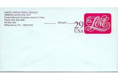 1991 Love Stamped Envelope