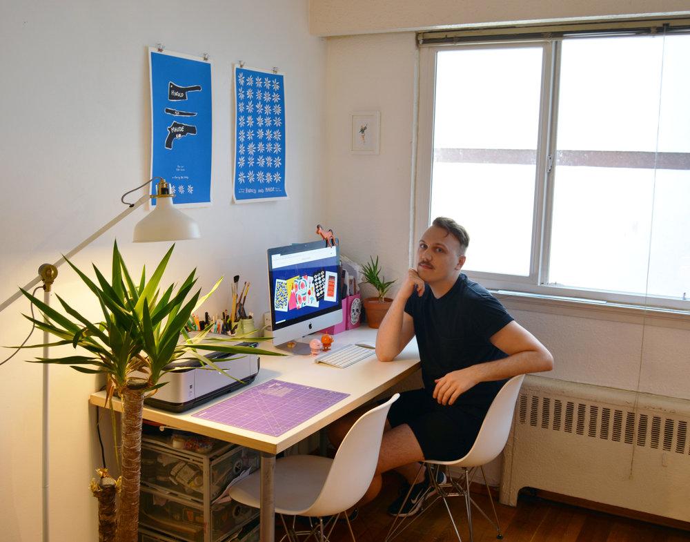 Holton Brock in the Badger & Burke studio