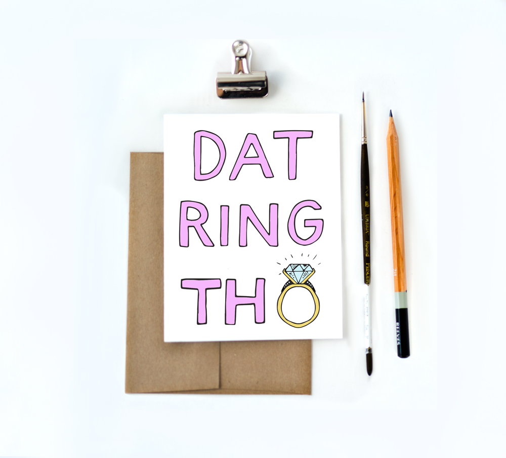 Dat Ring Tho greeting card by Aviate Press