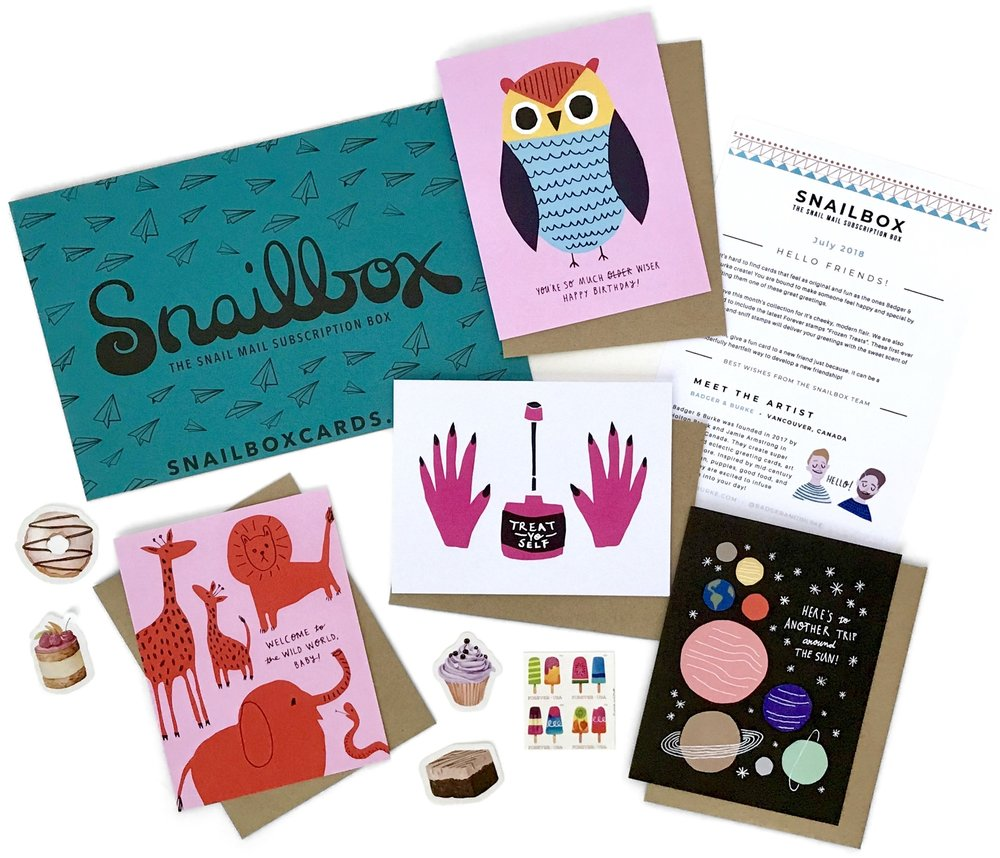 What's In a Snailbox? Click through to see.