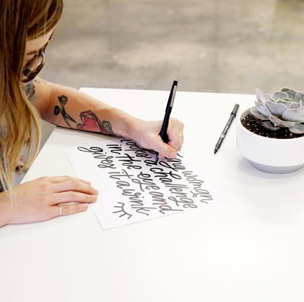 Kristen Drozdowski hand lettering