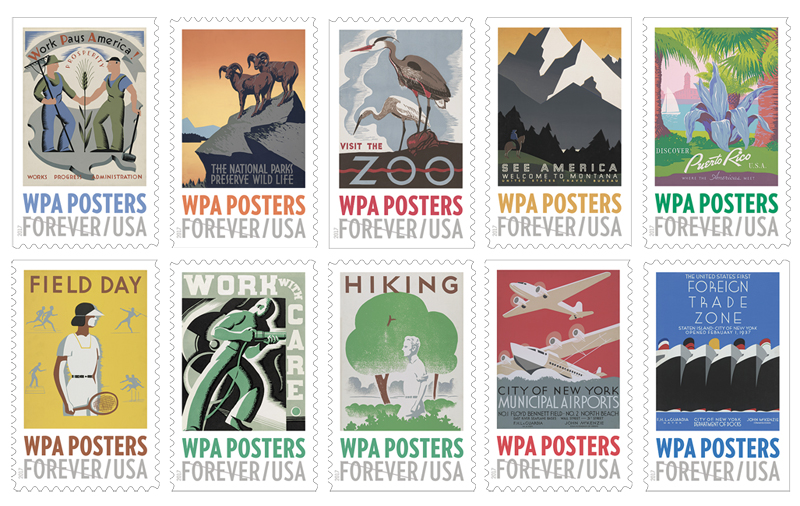 WPA Posters USPS Forever Stamps