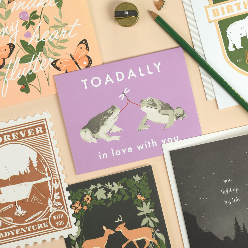 Amy Heitman Toadally In Love With You greeting card