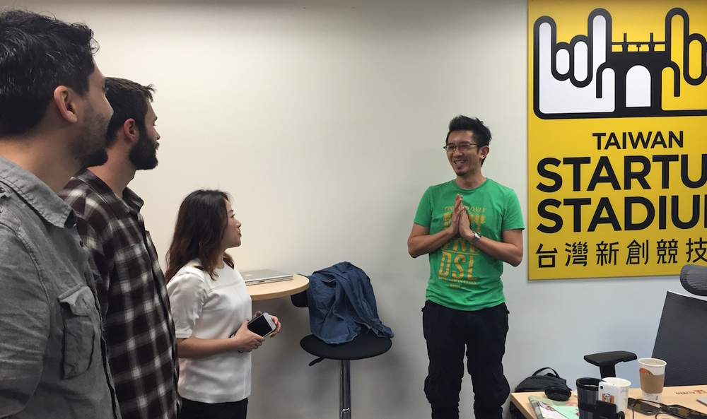 The Bend Labs team meets up with Alex Song, Co-founder of Taiwan's Alfred