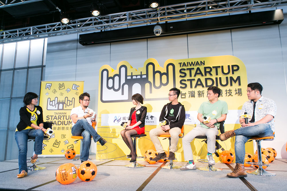 FROM LEFT TO RIGHT: Anita Huang (Captain, TSS), Steve Chen (Co-founder & former CTO, YouTube), Cate Xie (Co-founder & CBDO, SkyREC), Aldrich Huang (Co-founder & CEO, UXTesting), Ed Deng (Co-founder & CEO, Health2Sync), James Shen (Co-founder & CEO, PamilyApp)