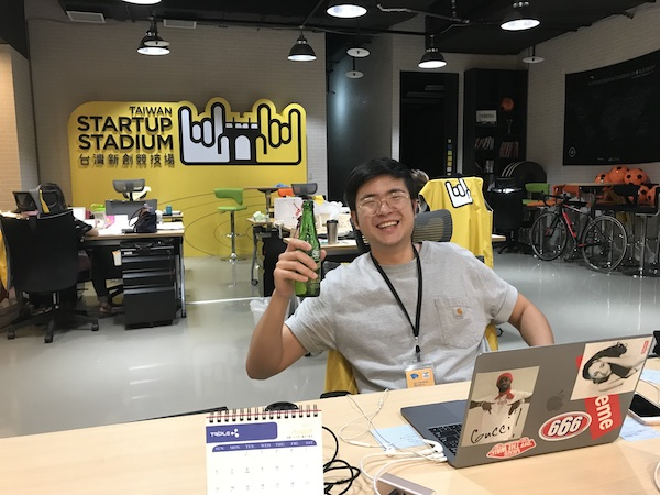 Our intern Gary helping us finish off the last Taiwan Beer 18天 before it expires. What a hero!