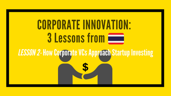 Corporate Innovation - How Corporate VCs Approach Startup Investing