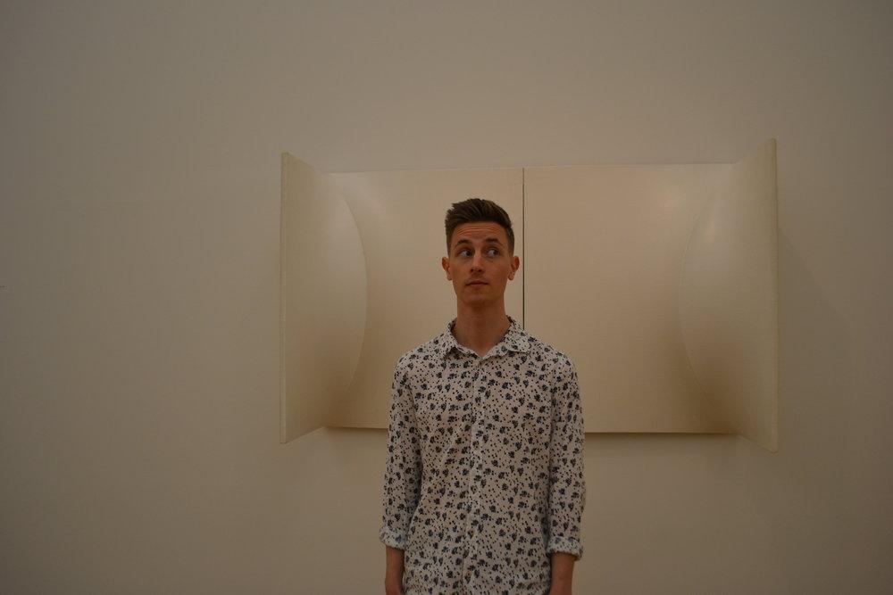 Mr. Xbstrxct & Artsy White Art Piece