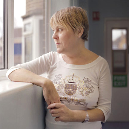 Janette, five weeks after her heart transplant
