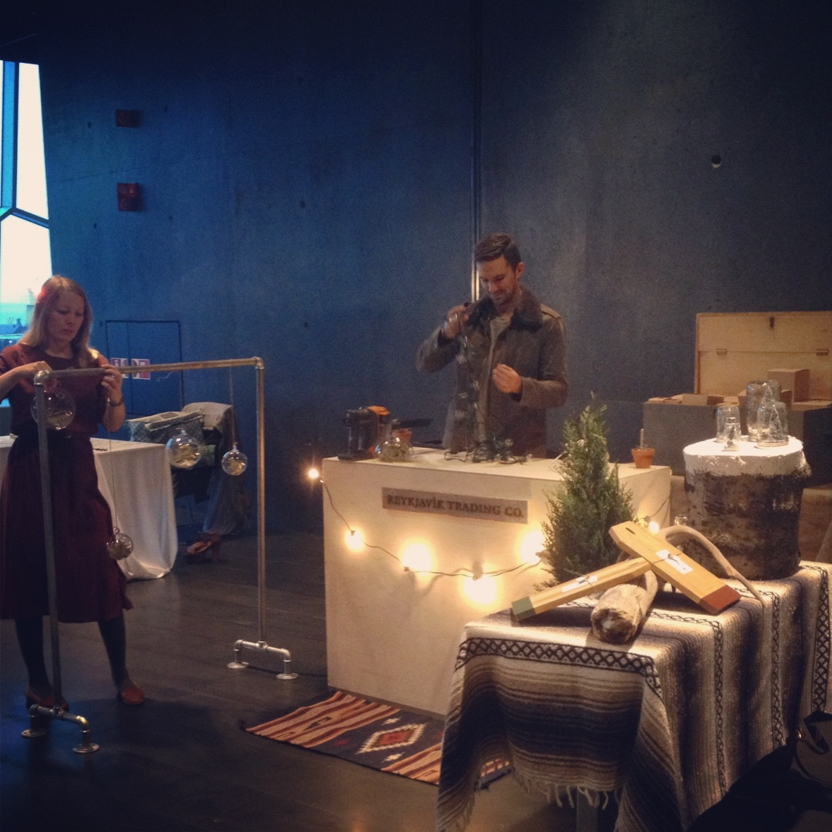 Setting up our little Reykjavík Trading Co. shop for the Christmas Popup Market in Iceland!