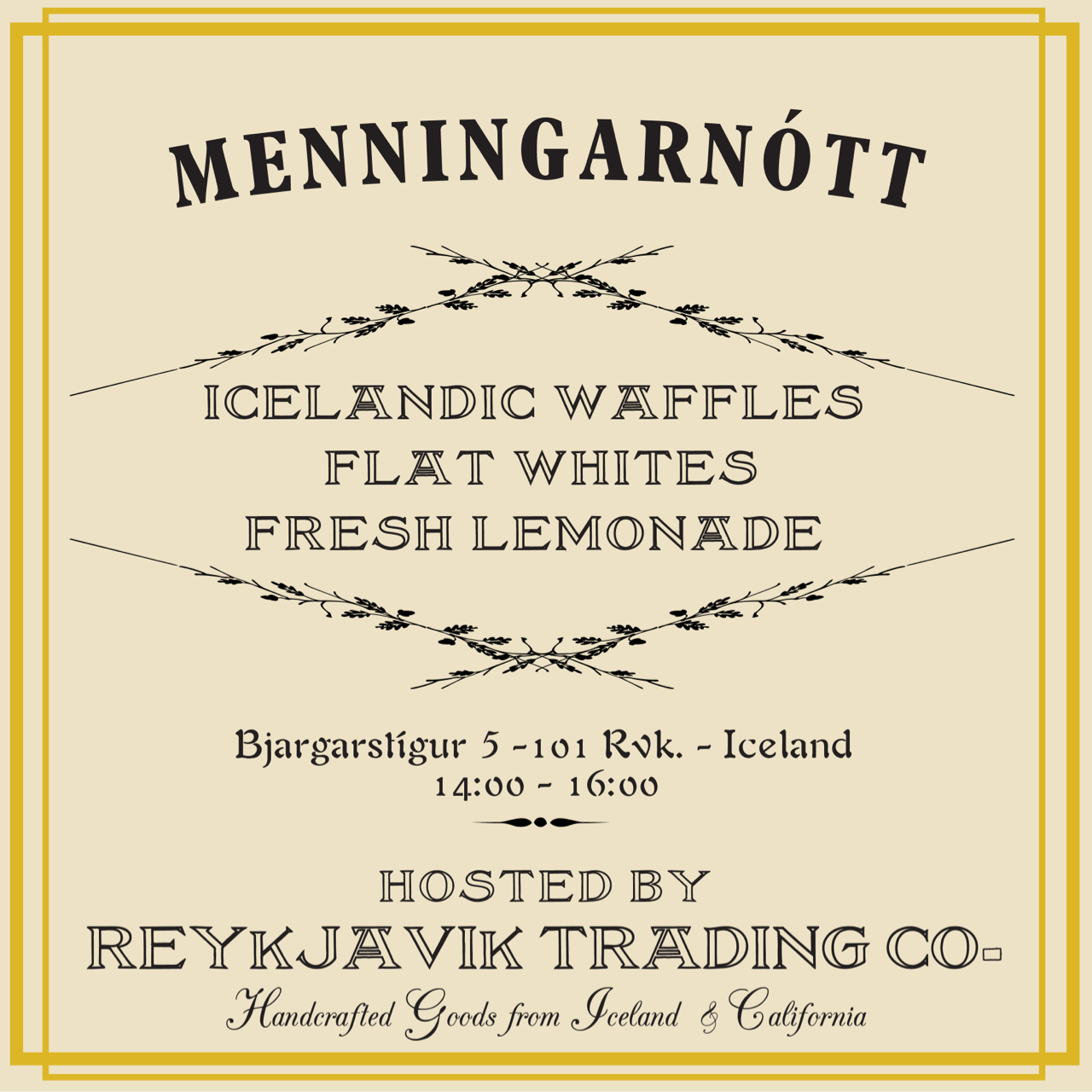 Join us tomorrow in our neighborhood for Menningarnótt as we open up our live / workspace & preview new goods