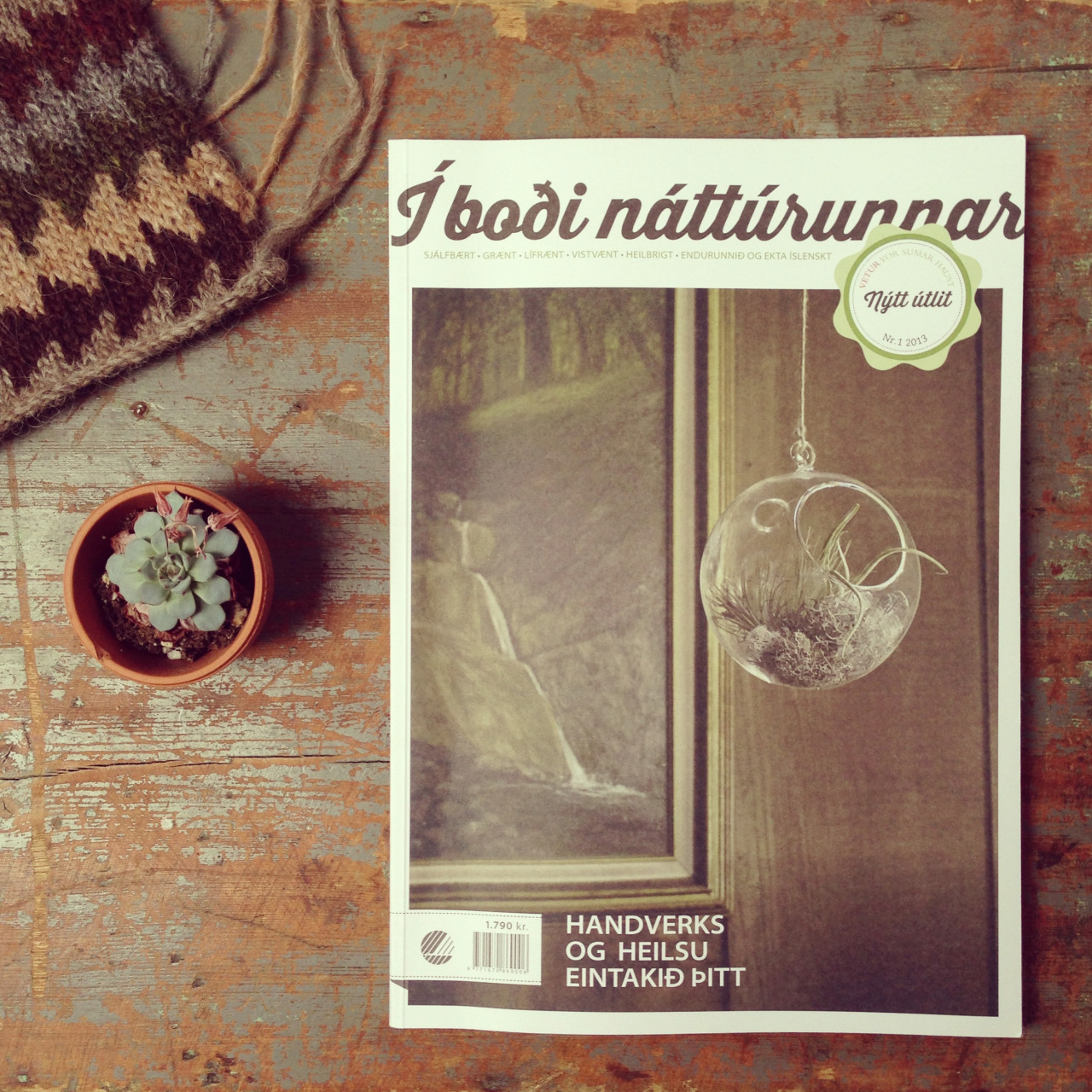 "Our first magazine cover! Iceland's nicest magazine,  ""í boði náttúrunnar""  (By Nature) wrote a lovely piece about us & our story."