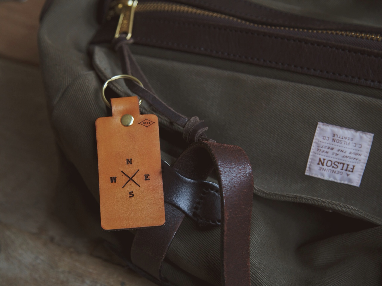 We've been traveling a lot lately testing out our new Veggie Tanned Leather Luggage Tags… Anthony is happy to see they are already starting to wear as nicely as his Filson bags.
