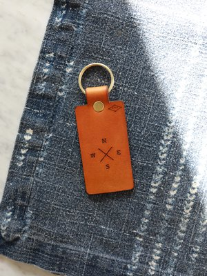 Compass Leather Keyring   Luggage Tag — R.T.Co. 1b4d01ca64c3