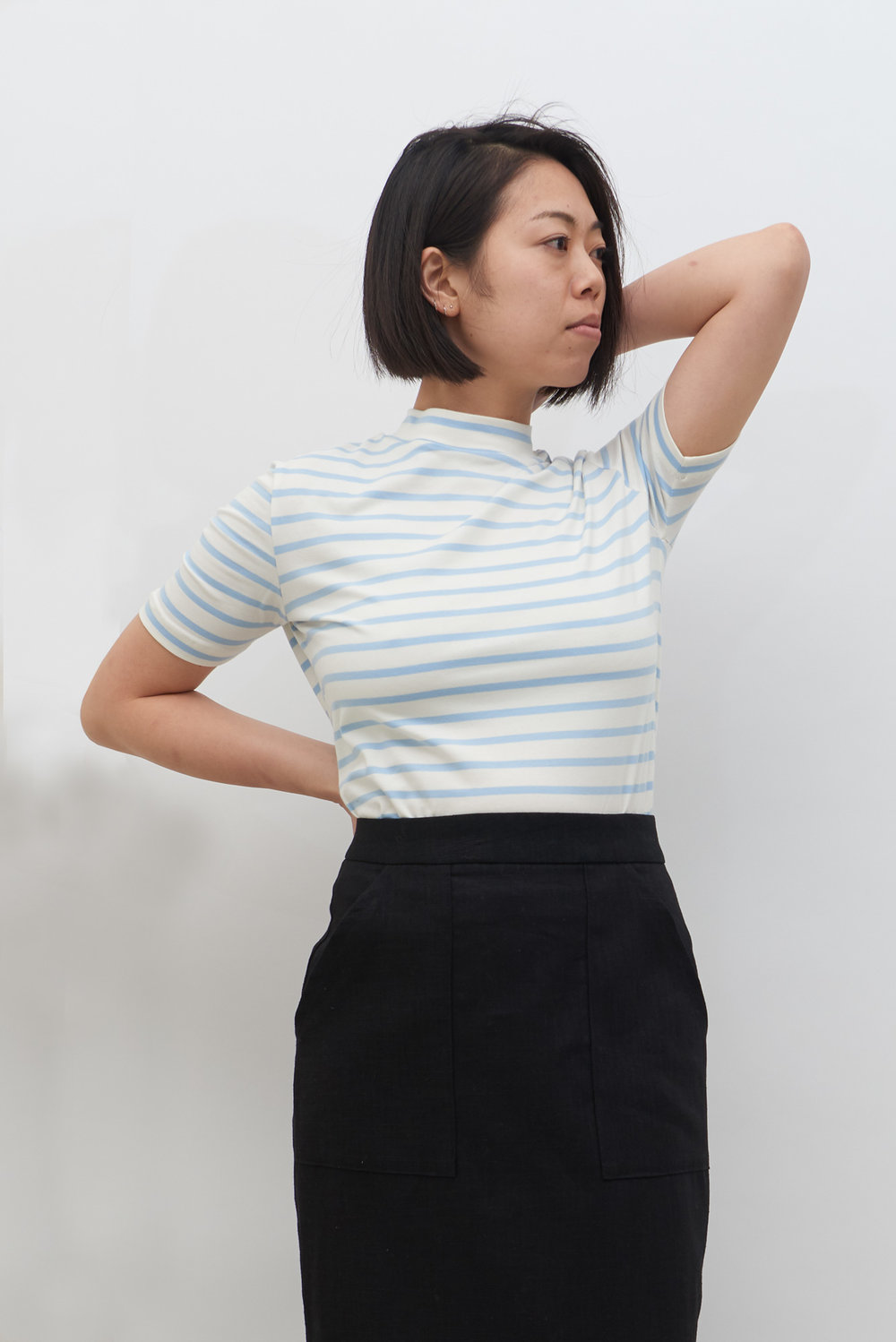 Stripe Tee - Powder Blue