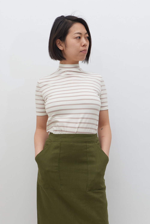 Stripe Tee - Pecan