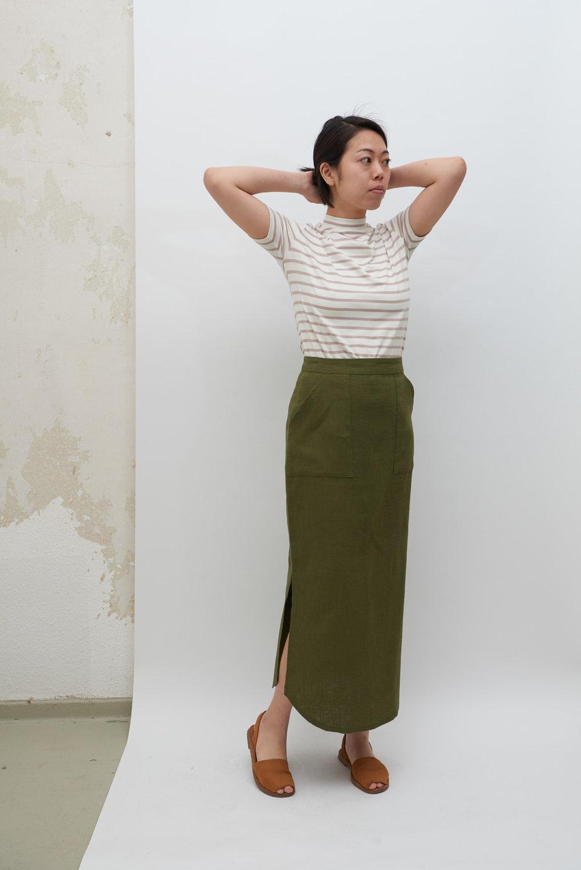 Poketto Skirt - Olive