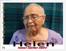 Helen Thomas  | nxaʔamxčín Fluent Elder