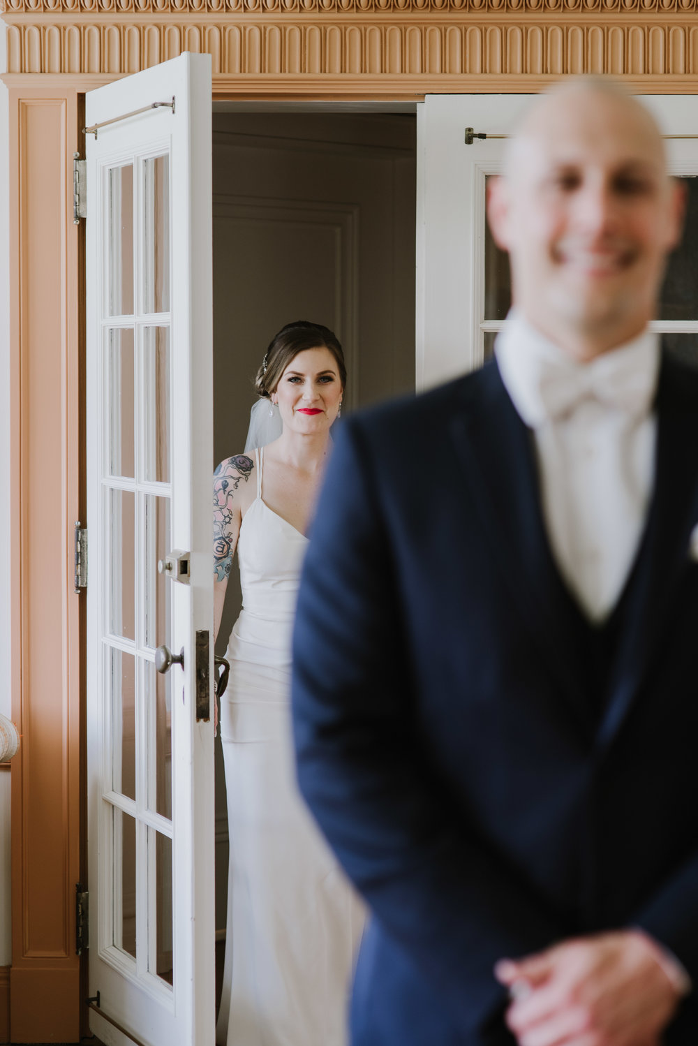 Linden Hall PA Wedding Bride and Groom Share First Look4.jpg
