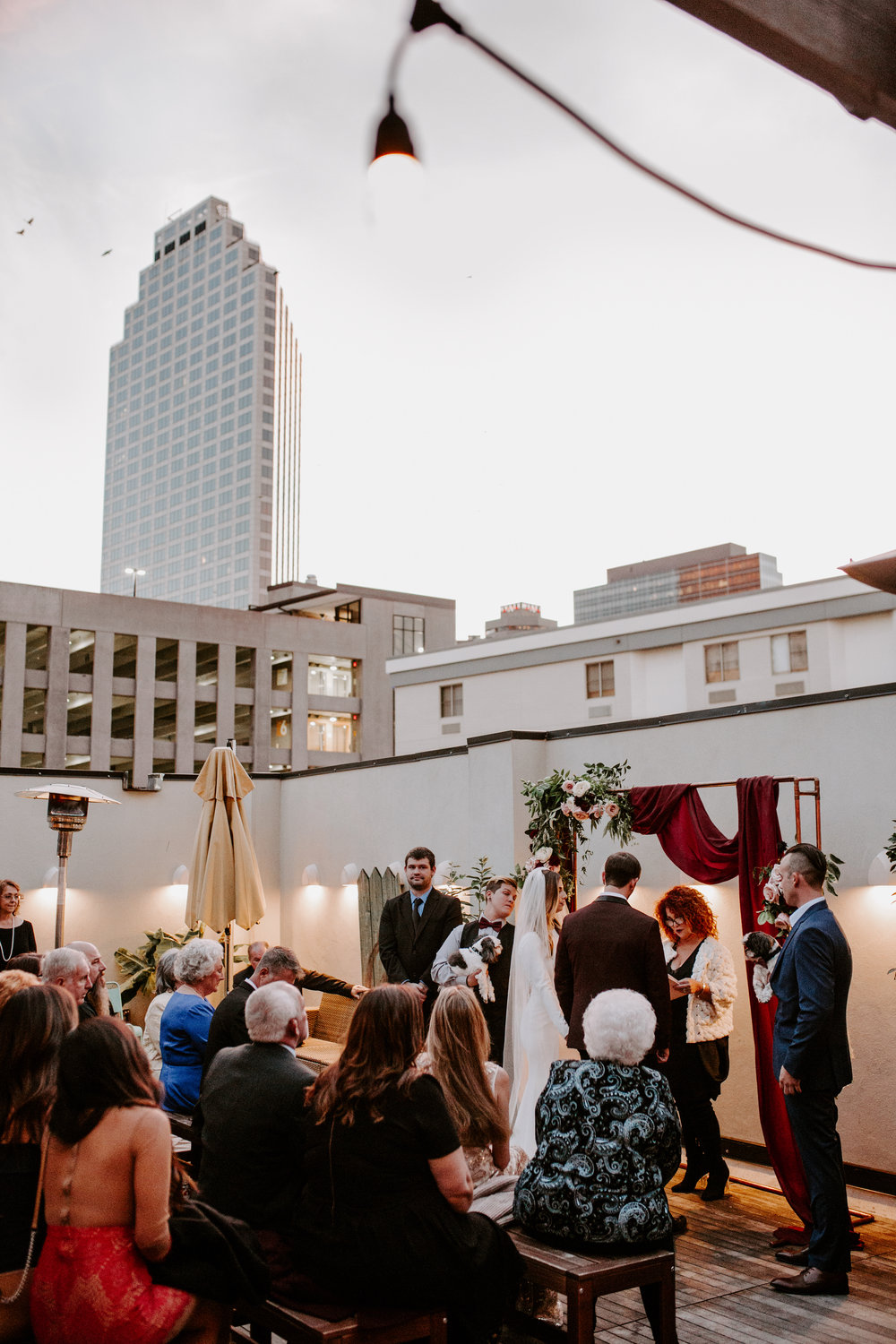 Catahoula Hotel Rooftop Wedding Ceremony New Orleans Wedding Photographer Ashley Biltz Photography39.jpg