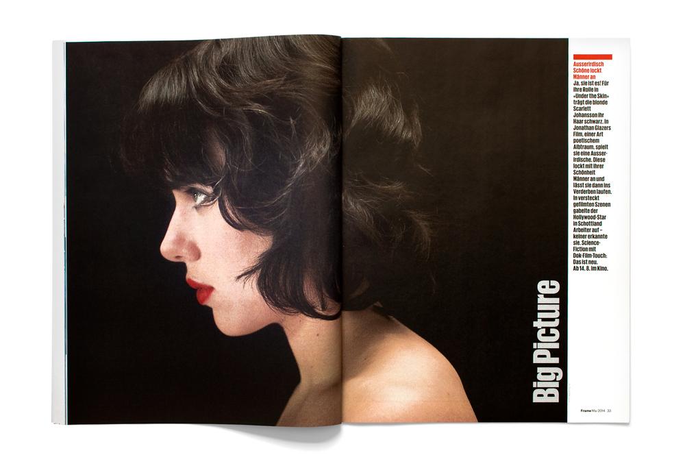 Scarlett Johansson spread, Frame magazine