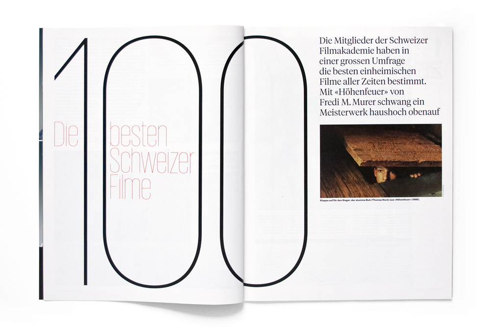 100 best Swiss films opener, Frame magazine