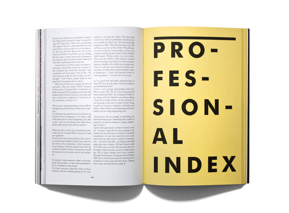 Professional index opener, the Manifesto magazine