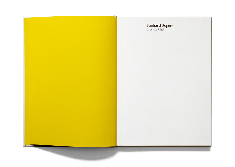 Richard Rogers Inside Out book half title page